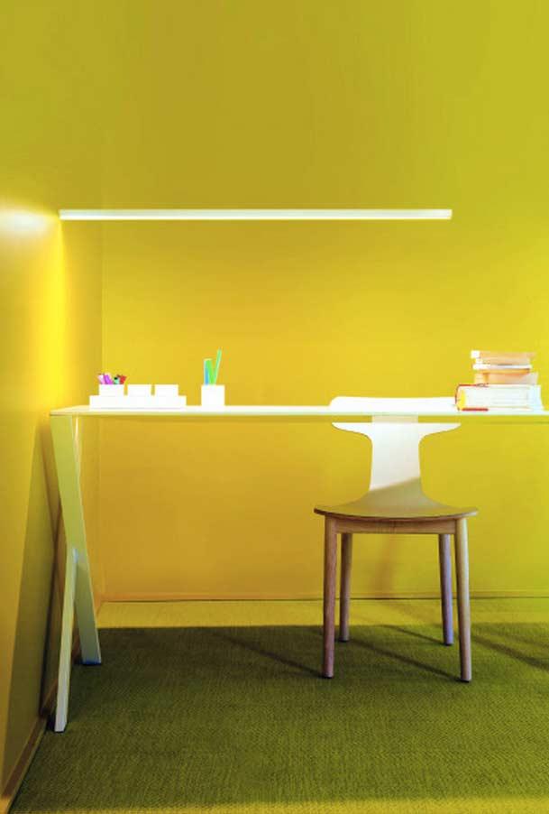 Amarelo predominante no ambiente