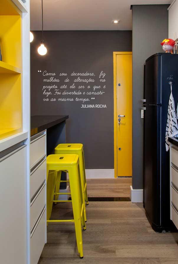 Cinza e amarelo: uma combinação perfeita