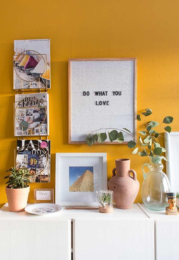 Amarelo para um ambiente mais alegre