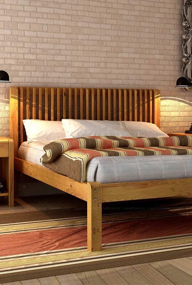 Cabeceira embutida na cama