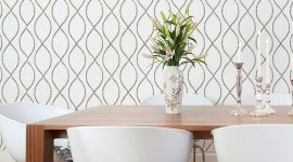 Papel de parede para sala de jantar: 60 ideias para decorar