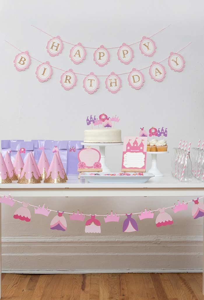 Festa da Princesa simples e barata