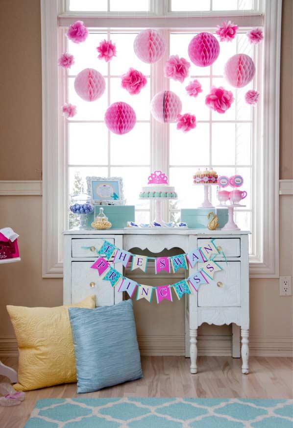 Decoração da festa princesa para quem tem pouco espaço disponível