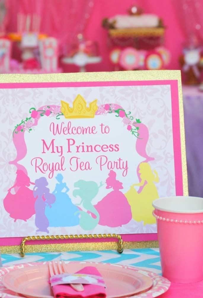 Boas vindas da Princesa da Disney
