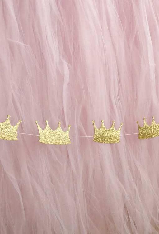 Coroa das princesas na decoração