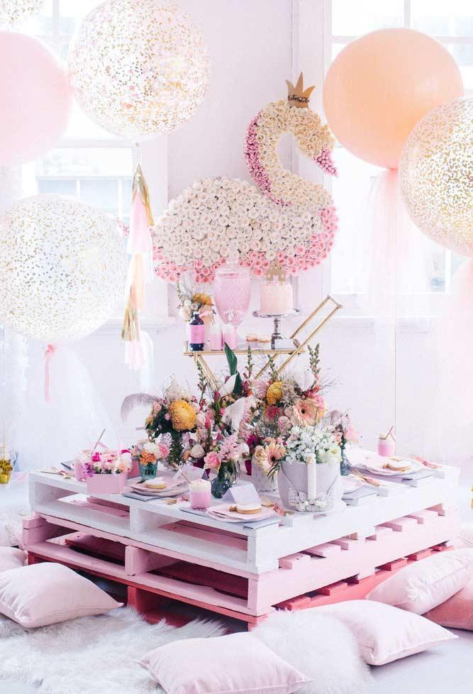Decoração de festa princesa simples