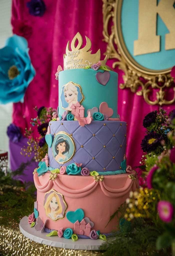 Bolo das Princesas da Disney