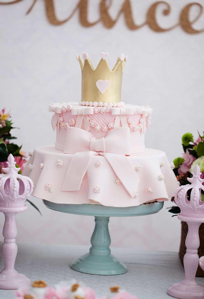 Bolo inspirado no vestido princesa