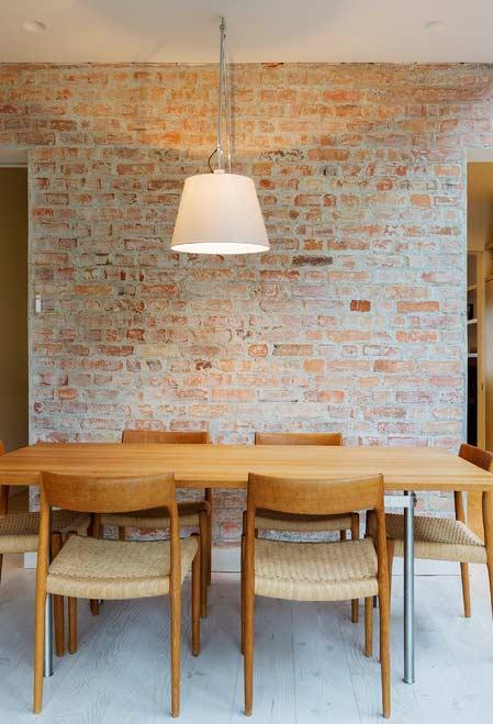 Papel de parede para sala com tijolinhos