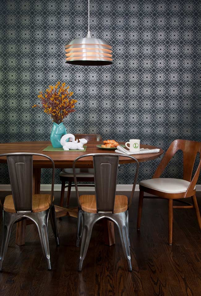 Papel de parede escuro com pontos claros iluminados