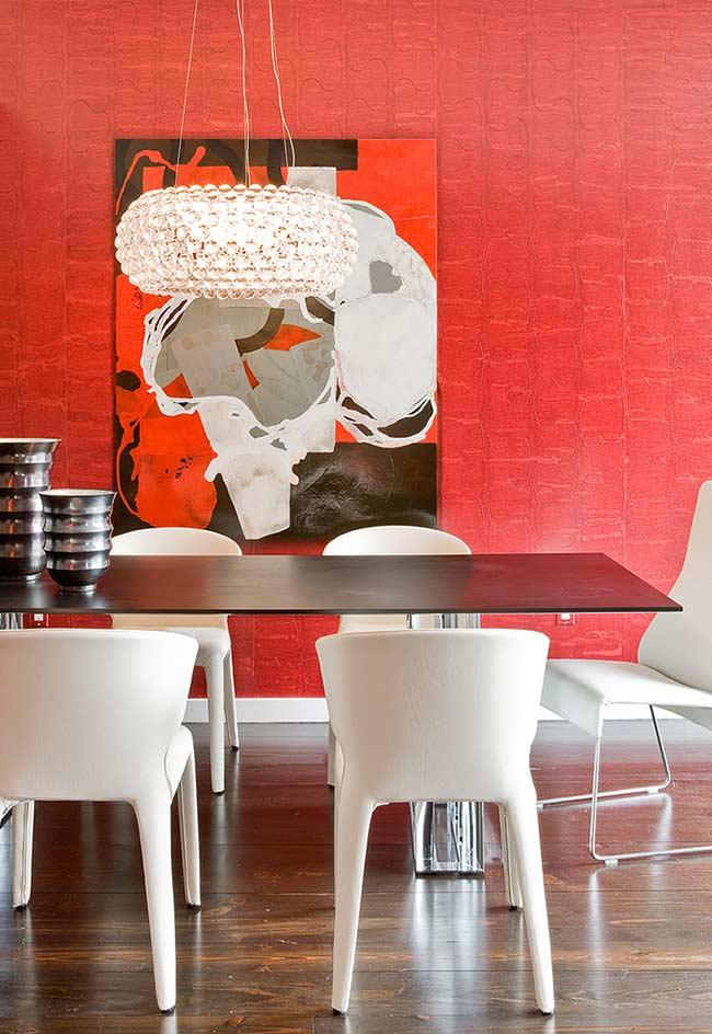 Papel de parede vermelho para sala