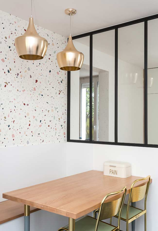 Papel de parede coloridinho para sala de jantar