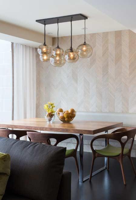 Papel de parede para sala de jantar bege