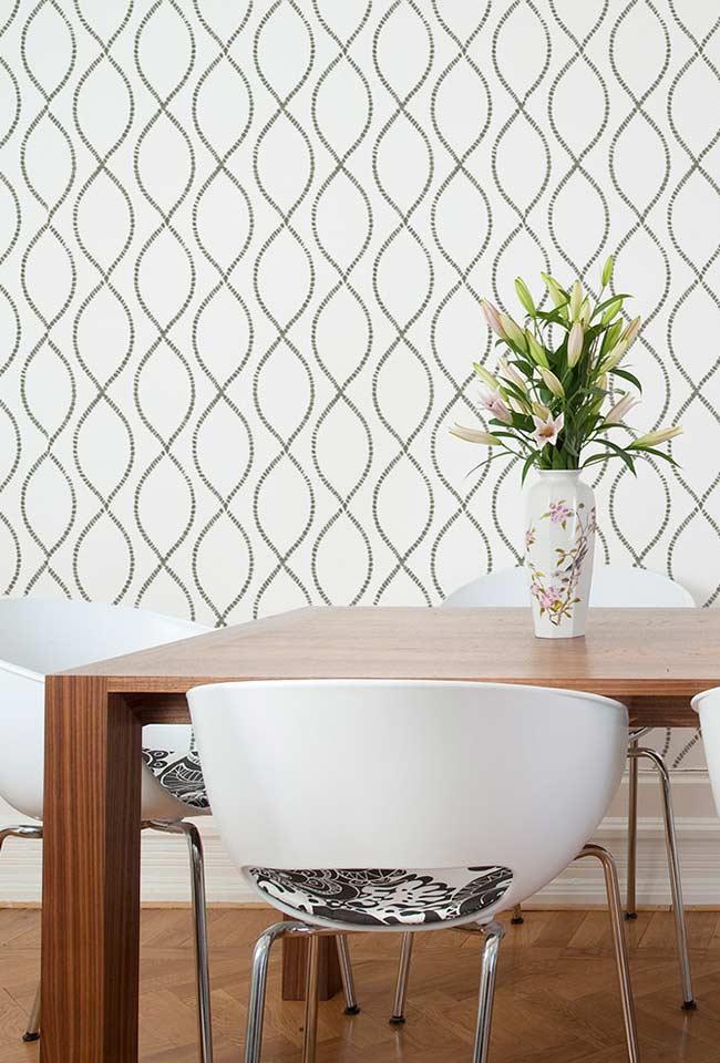 Papel de parede para sala de jantar simples