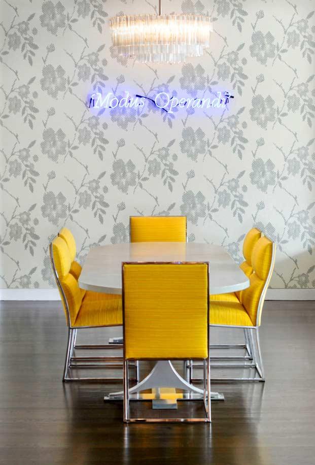 Papel de parede para sala de jantar clássico