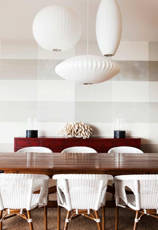 Papel de parede xadrez para sala de jantar
