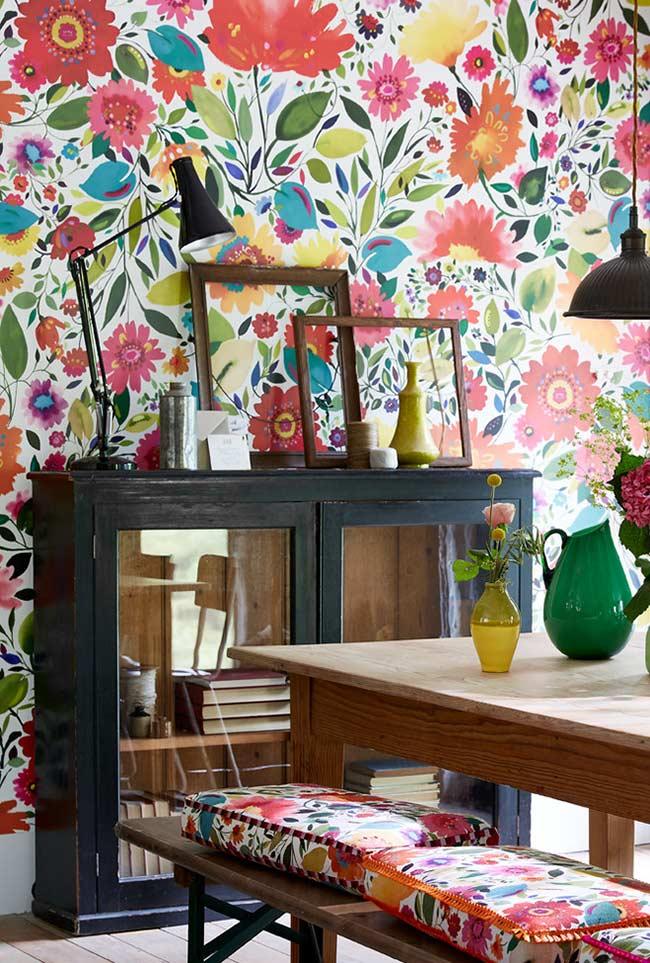 Papel de parede para uma decoração descontraída e alegre