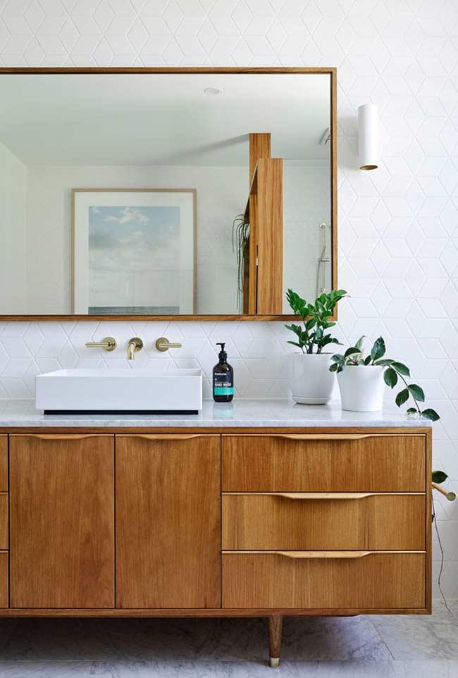 Armário de banheiro moderno em pé em teca e aço Alassio