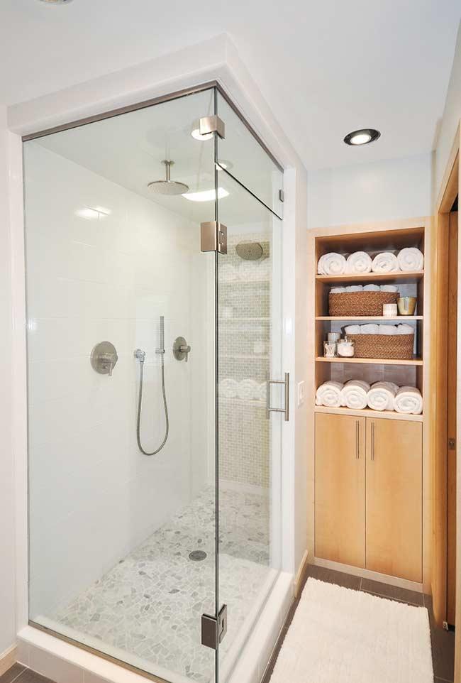 Armário de banheiro tipo nicho de parede