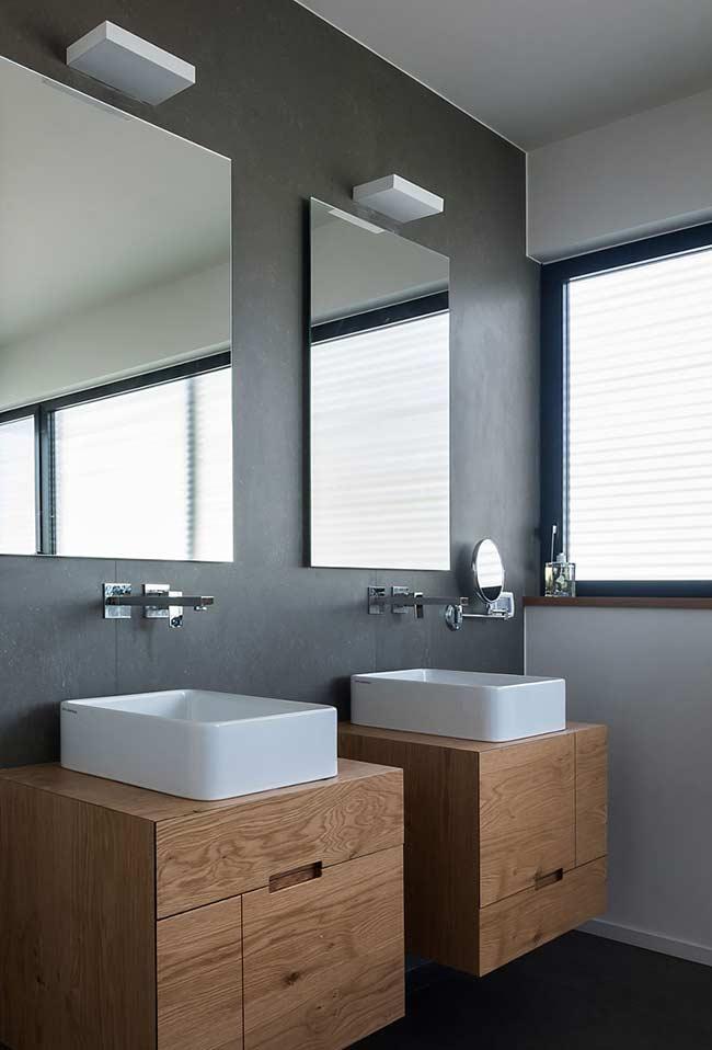 Dupla de armário de banheiro para casal