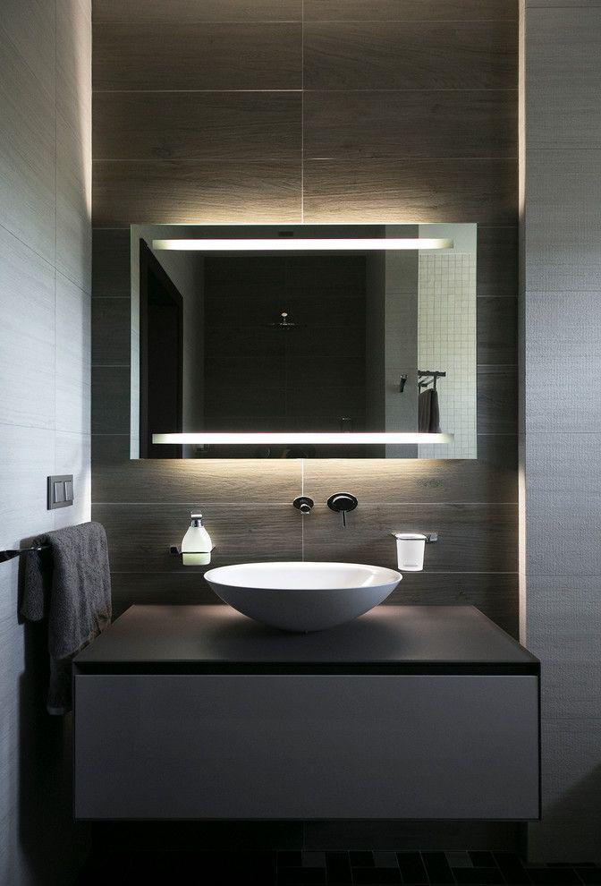 Armário de banheiro suspenso preto