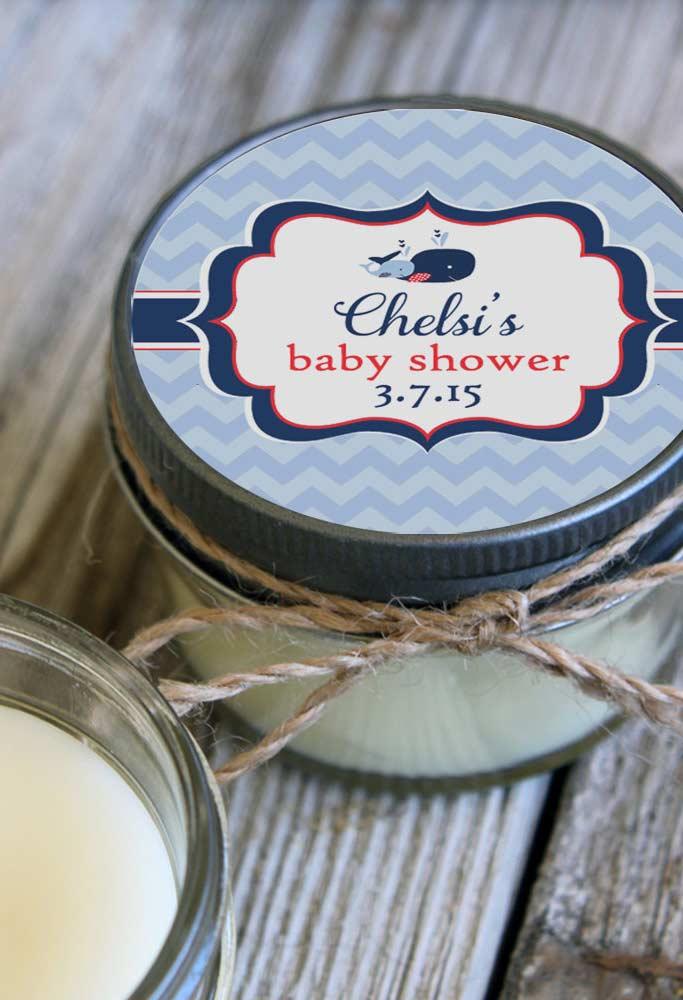 Adesivo exclusivo para lembrancinha de chá de bebê