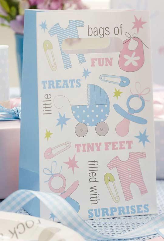 embalagens do tema de chá de bebê para lembrancinhas