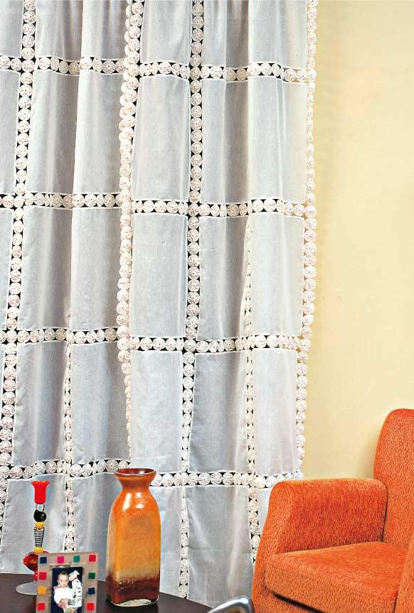 Como fazer fuxico: para cortina