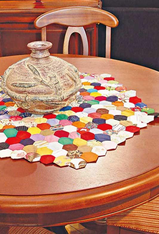 Como fazer fuxico: centro de mesa multicolorido