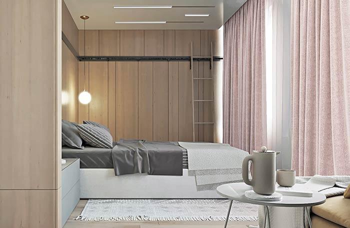 Quarto moderno com armários planejados