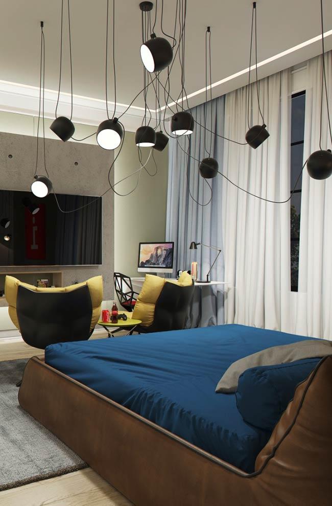 Estilo descontraído para quarto moderno masculino