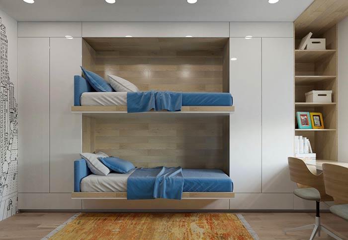 Cama-armário para quarto de jovens