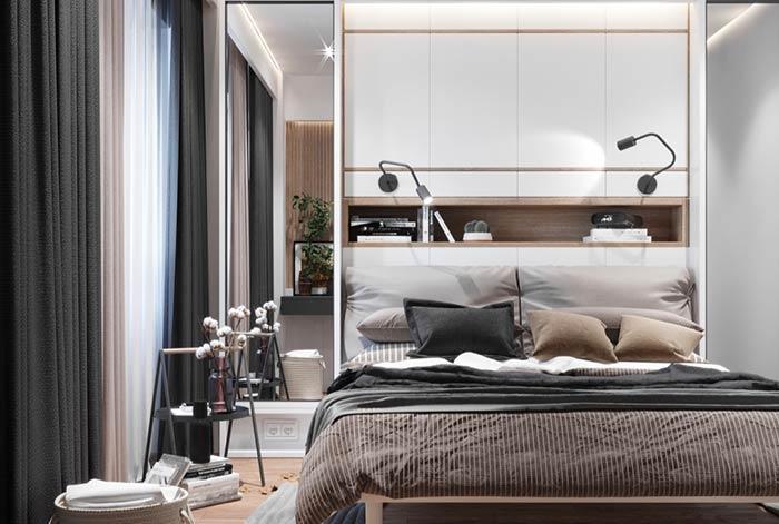 Espelho para ampliar quartos modernos