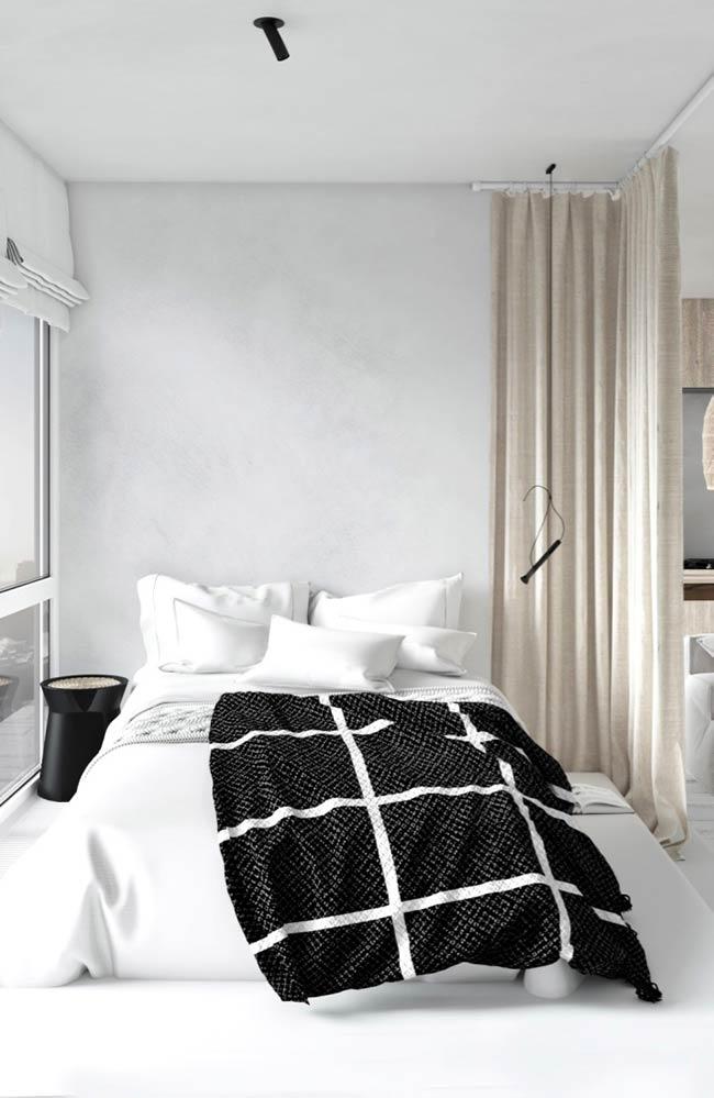Passagem de luz em quarto moderno pequeno