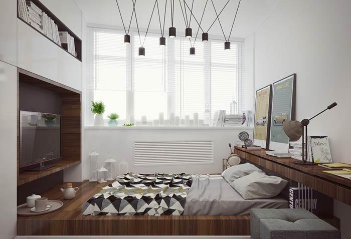 Mais uma plataforma planejada com espaço para a cama