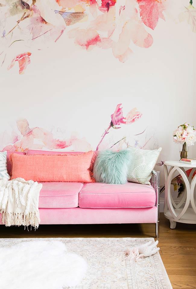 Tons de rosa e tropicais