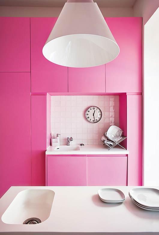 Pink na cozinha sim