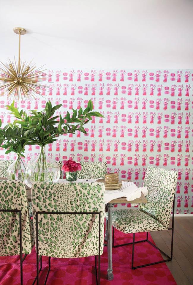 Fundo pink para decoração verde