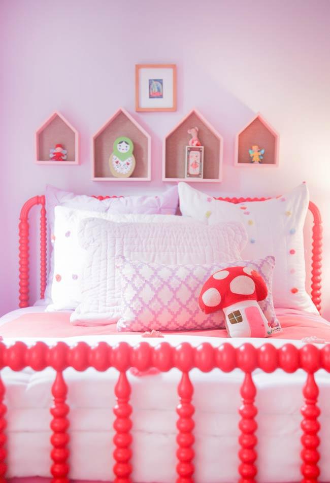 Tons de rosa para o quarto infantil