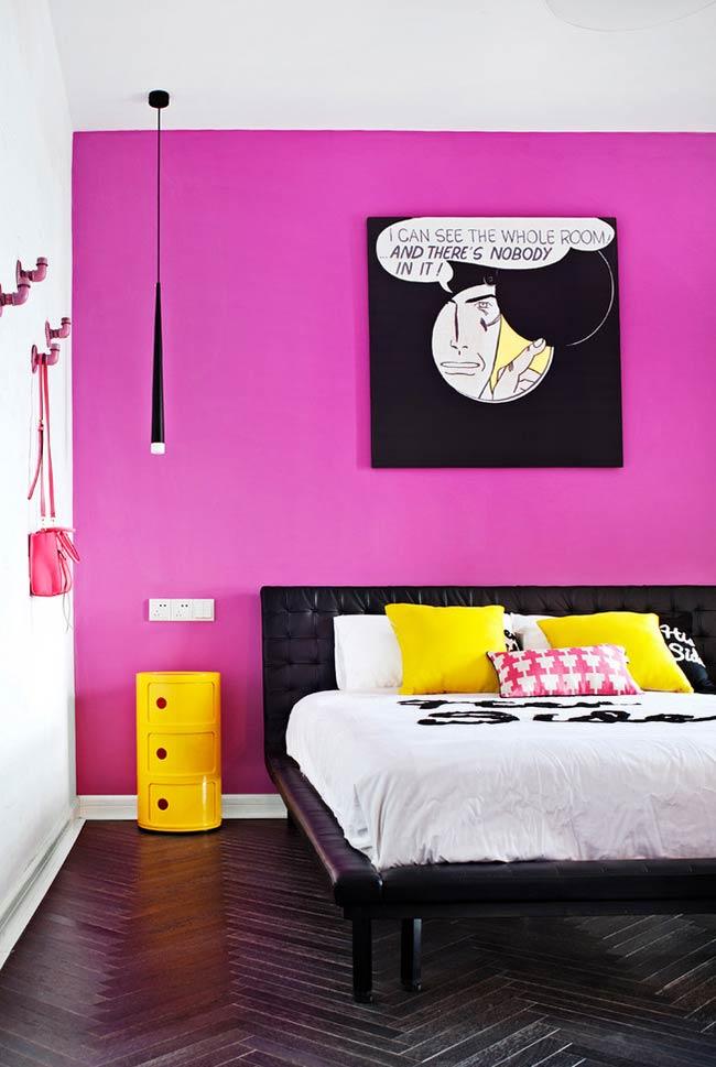 Rosa neon como cor de destaque