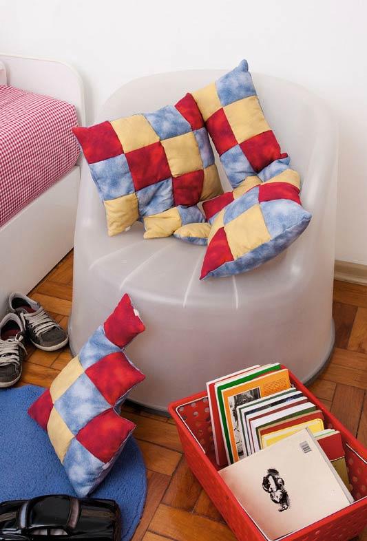 Almofadas decorativas com patchwork