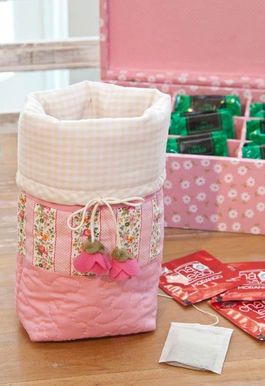 Embalagem charmosa com patchwork