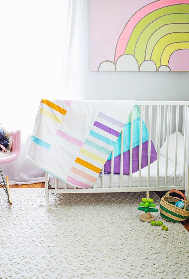 Colcha para bebê colorida