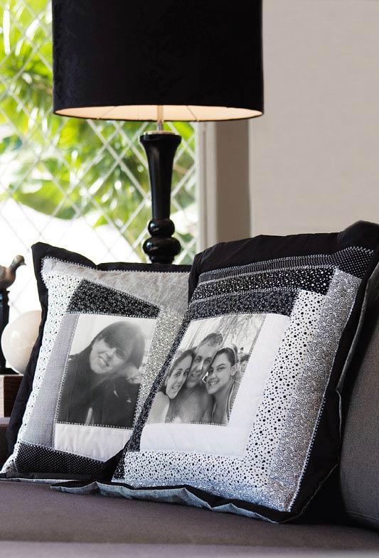Capas de almofadas personalizadas com patchwork