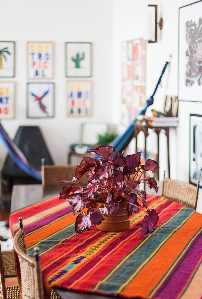 Toalha de mesa com patchwork
