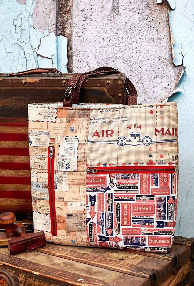 Bolsa de viagem inspirada em patchwork
