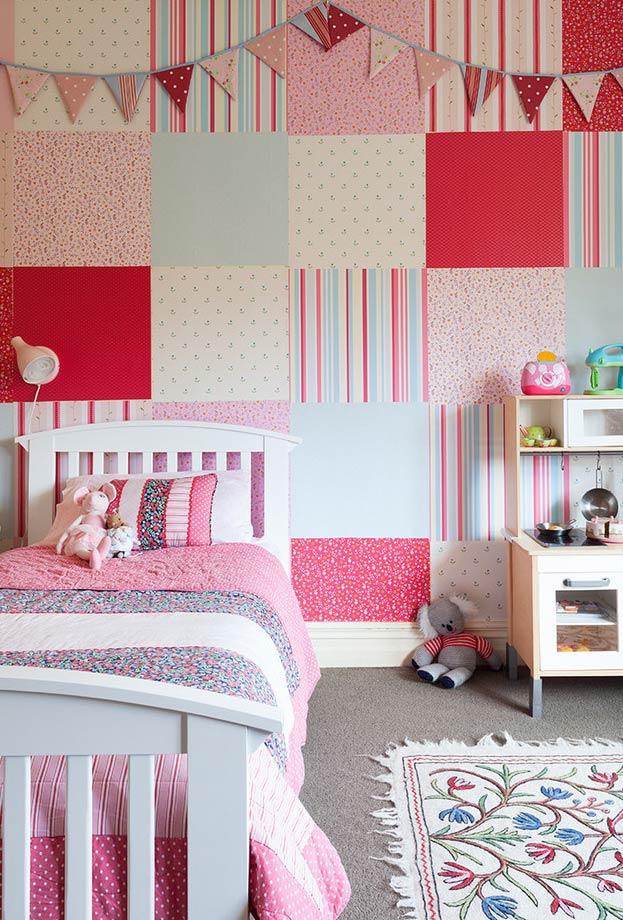 Inspiração patchwork para decorar a parede