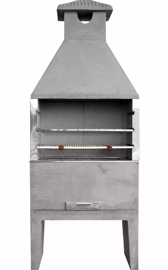 Churrasqueira pré-moldada de concreto
