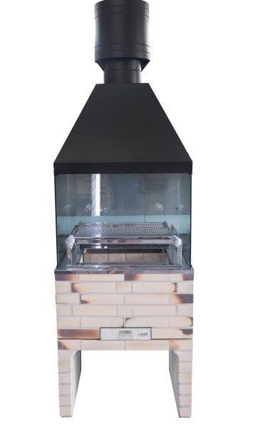 Churrasqueira pré-moldada com vidro