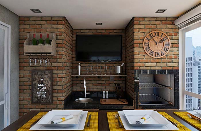 Decore as paredes da churrasqueira de forma temática e divertida